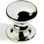 Profile Centre Door Knob 85 mm – Polished Brass Unlacquered
