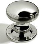 Contour Centre Door Knob 85 mm – Polished Brass Lacquered