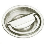 Round Flush Handle 65 mm – Polished Brass Lacquered