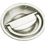 Round Flush Handle 75 mm – Antique Brass Unlacquered