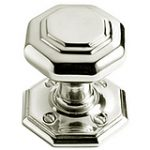Octagonal Mortice Knob 67 mm – Polished Brass Lacquered