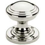 Stepped Edge Mortice Knob 60 mm – Polished Brass Lacquered