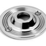 Roses With Visible Fixings 64 mm – Polished Nickel Plate