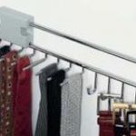 Pull-Out Tie and Belt Rack 455 mm – Standard finish