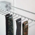 Pull-Out Tie Rack 455 mm – Standard finish