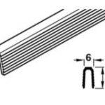Lower Guide Profile 3000 mm – Standard finish