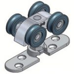 Soltaire Trolley Hanger Surface Mounted – Satin Stainless Steel