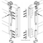 End Hangers and Guides for Rebated Meeting Stiles – Satin Stainless Steel
