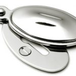 Raised Oval Covered Escutcheon P8102 – Polished Nickel Plate