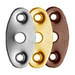 Oval Security Bolt Escutcheon – Polished Chrome Plate