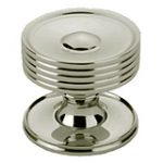 Dished Top Cupboard Knob with Rose 32 mm – Polished Brass Lacquered