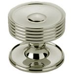 Dished Top Cupboard Knob with Rose 38 mm – Polished Brass Lacquered