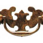 Plate Handle 89 mm – Antique Brass Unlacquered