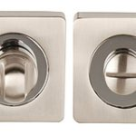 Square Privacy Turn and Release – Polished Chrome and Satin Nickel