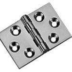 Back Flap 38 x 60 mm – Polished Nickel Plate