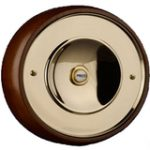 Bell Push on Base 165 mm – Stainless Polished Brass