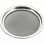 Circular Vent with Mesh 120 mm – Satin Stainless Steel