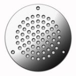 Circular Vent 127 mm – Polished Stainless Steel