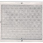 Mesh Vent in Frame 150 mm – Satin Stainless Steel