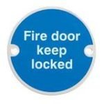 Fire Door Keep Locked – Plastic