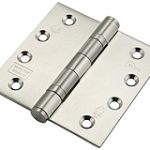 Stainless Steel Ball Bearing Hinge 102 x 102mm – Polished Stainless Steel