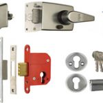 SDS Narrow Nightlatch and Deadlock Keyed Alike for 44 mm Door – Polished Chrome Plate