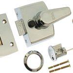 SDS Standard Style Rim Nightlatch 60 mm Backset – Polished Brass Lacquered