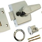 SDS Narrow Style Rim Nightlatch 40 mm Backset – Polished Brass Lacquered