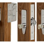 L2000 Deadbolt and Two M2002 Deadlocks Keyed Alike 4 Keys – Polished Brass Lacquered