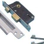 Sashlock 5 lever 51mm Insurance Rated – Satin Chrome Plate
