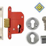 Profile Cylinder Deadlock 67 mm c/w Cylinder B.S.3621 – Satin Chrome Plate