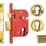 Profile Cylinder Sashlock 76 mm c/w Cylinder B.S.3621 – Satin Chrome Plate