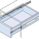 Single Extension Drawer Runner Side Fix 450mm – Standard finish