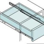 Single Extension Drawer Runner Bottom Fix 300mm – Standard finish
