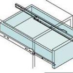 Single Extension Drawer Runner Bottom Fix 500mm – Standard finish