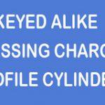 Keyed Alike Passing Charge – Standard finish