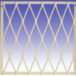 Large Diamond Mesh Security Grille 1200 x 1000 mm – Standard finish